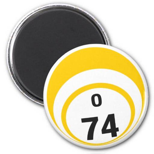 Imán del refrigerador de la bola del bingo de O 74