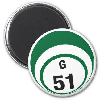 Imán del refrigerador de la bola del bingo G51