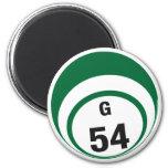 Imán del refrigerador de la bola del bingo G54