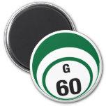Imán del refrigerador de la bola del bingo G60