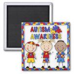 Imán del refrigerador de la conciencia del autismo