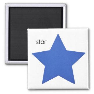 Imán del refrigerador de la estrella