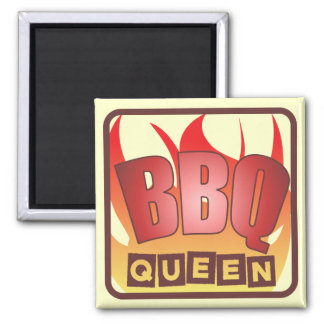Imán del refrigerador de la reina del Bbq
