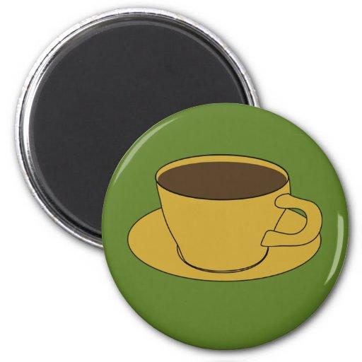 imán del refrigerador de la taza de café de los añ