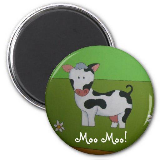 Imán del refrigerador de la vaca