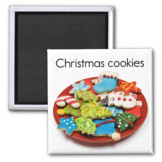 Imán del refrigerador de las galletas del navidad