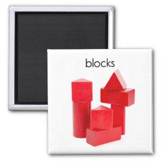 Imán del refrigerador de los bloques