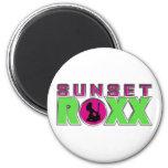 Imán del refrigerador de Roxx de la puesta del sol