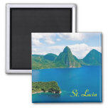 Imán del refrigerador de St Lucia