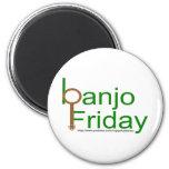 imán del refrigerador de viernes del banjo