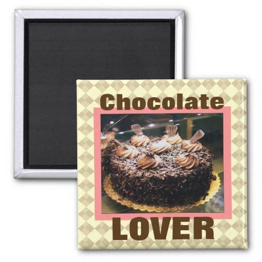 Imán del refrigerador del amante del chocolate/del