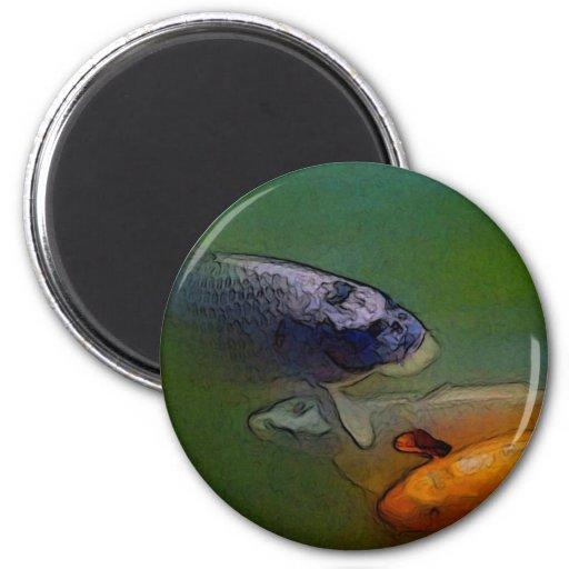 Imán del refrigerador del fishCustom del oro del a