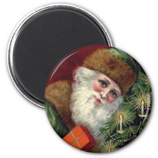 Imán del refrigerador del navidad de Papá Noel del