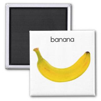 Imán del refrigerador del plátano