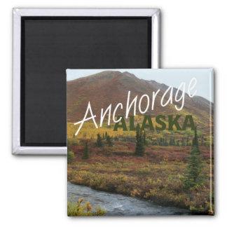 Imán del refrigerador del recuerdo de Anchorage Al