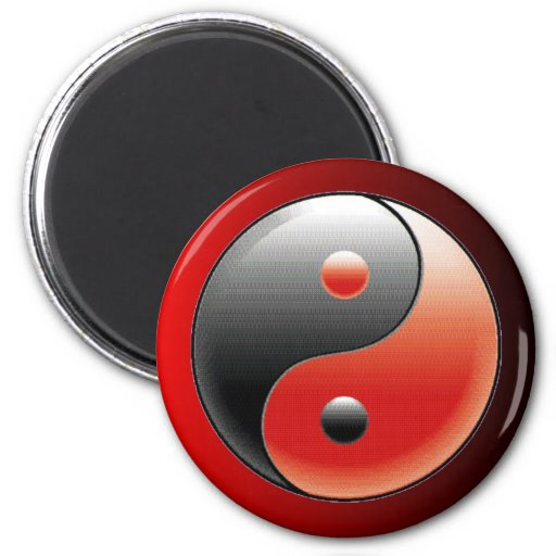Imán del refrigerador del símbolo de Yin Yang