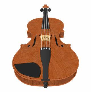 Imán del refrigerador: Modelo del violín 3D: Escul Imán Fotoescultura