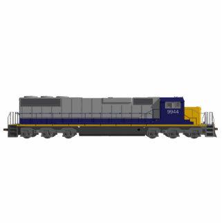 Imán del refrigerador: Motor del tren: modelo 3D Imán Fotoescultura
