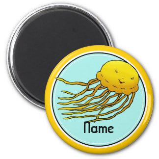 Imán del refrigerador, plantilla conocida, medusa