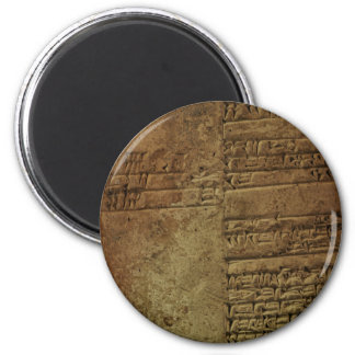 """Imán del regalo de la """"escritura cuneiforme sumeri"""
