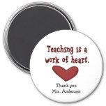 Imán del regalo del aprecio del profesor