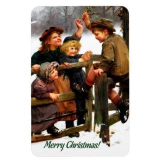 Imán del regalo del navidad de la bella arte