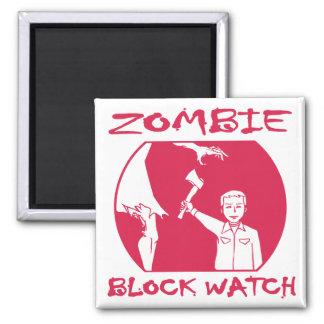 Imán del reloj del bloque del zombi