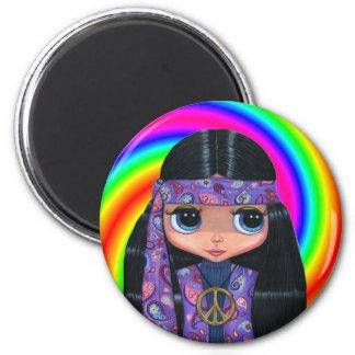 Imán del remolino de la muñeca del Hippie de Paisl