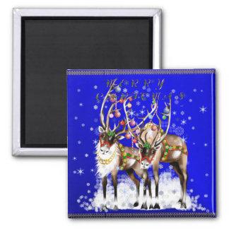Imán del reno de las Felices Navidad