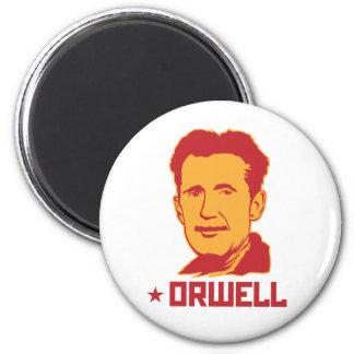 Imán del retrato de George Orwell