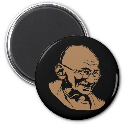Imán del retrato de Mahatma Gandhi