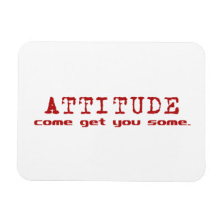 Imán del rojo de la actitud
