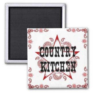 Imán del rojo de la cocina del país