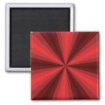 Imán del rojo de la ilusión óptica