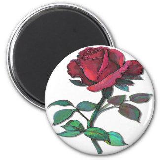 Imán del rosa rojo