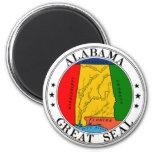 Imán del sello del estado de Alabama