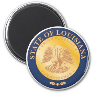 Imán del sello del estado de Luisiana