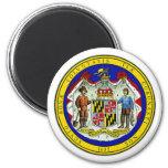 Imán del sello del estado de Maryland