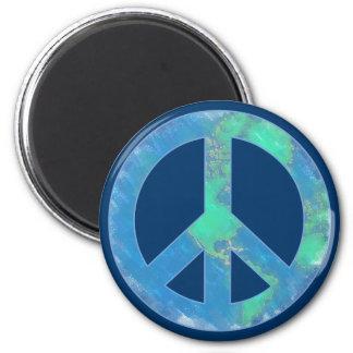 Imán del signo de la paz de la tierra