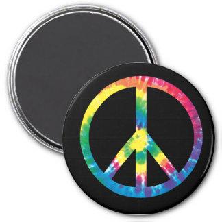 Imán del signo de la paz del teñido anudado