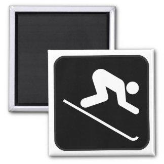 Imán del símbolo del esquí alpino