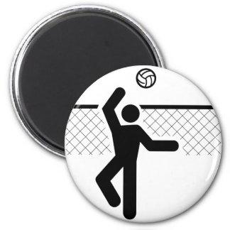 Imán del símbolo del voleibol