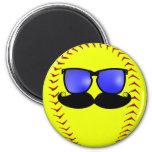 Imán del softball de Fastpitch del bigote