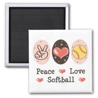 Imán del softball del amor de la paz