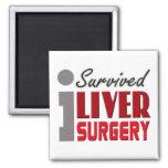 Imán del superviviente de la cirugía del hígado
