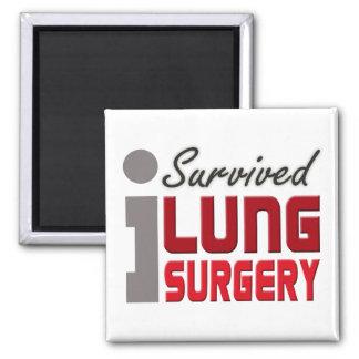 Imán del superviviente de la cirugía del pulmón