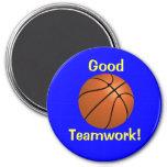 Imán del trabajo en equipo del baloncesto