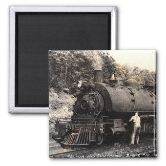 Imán del tren del Vintage-Vapor