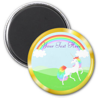 Imán del unicornio del arco iris