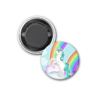 Imán del unicornio del arco iris de la fantasía
